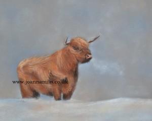 "Highland Winter Open Giclée Print 12"" x 10"" with mount"